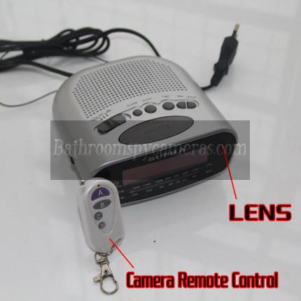 Bathroom Spy Clock Radio Camera HD Motion Activated 16GB 1920X1080
