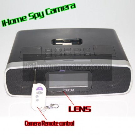 iHome Alarm Clock Radio Camera 1080P HD Spy DVR Pinhole Spy Camera 32GB Internal Memory