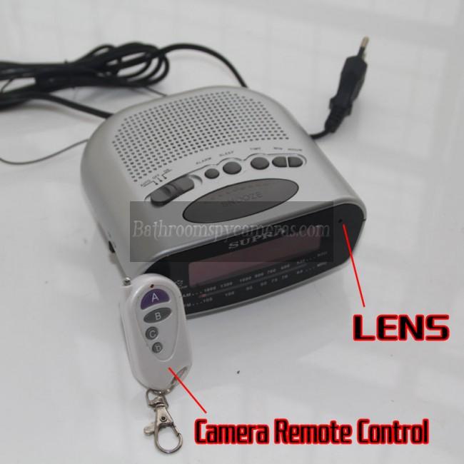 Jam radio Kamera Mata-Mata 1080P DVR 16G HD Gerakan Diaktifkan terbaik kamera tersembunyi