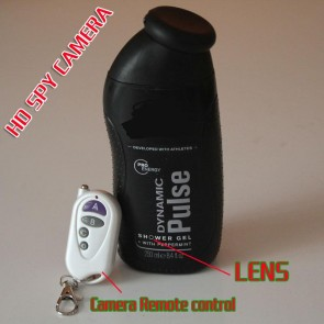 Shower Gel Bottle Spy Camera 1080P Motion Detection 32GB Super Low Light (Free-shipping Worldwide)