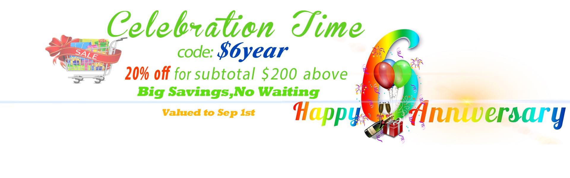 promotion Happy 6 Anniversary Celebration